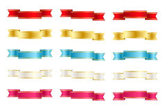 Set of color ribbons Stock Image