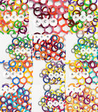 Set of color rings abstract background Royalty Free Stock Photo