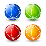 Set of color round icons Stock Photo