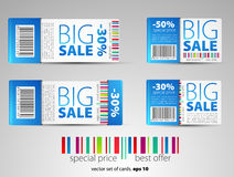 Set of color  sale tickets Royalty Free Stock Image