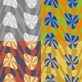 Set color of seamless abstract patterns Stock Photography