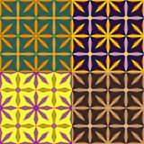 Set color of seamless geometric patterns Royalty Free Stock Photo