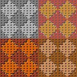 Set color of seamless geometric patterns Stock Photography