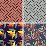 Set color of seamless patterns Stock Photo