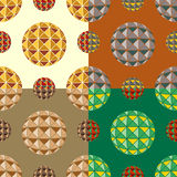 Set color of seamless patterns from balls Royalty Free Stock Photography