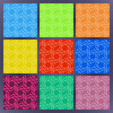 Set of color seamless patterns. The collection of symmetric seamless patterns Stock Image