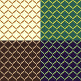 Set color of seamless patterns Royalty Free Stock Images