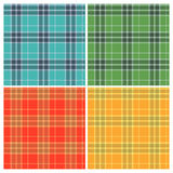 Set of color seamless tartan patterns. Vintage Stock Photos