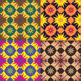 Set color of seamless vector patterns Stock Photos