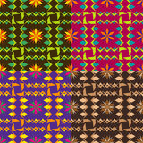 Set color of seamless vector patterns Royalty Free Stock Photography