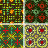 Set color of seamless vector patterns Royalty Free Stock Photo