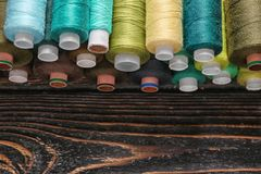 Set of color sewing threads Royalty Free Stock Images