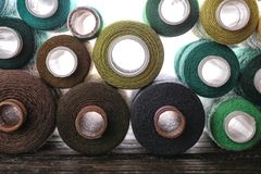 Set of color sewing threads Royalty Free Stock Photos