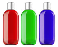 Set of color shampoo container Stock Image