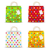Set of color shopping bags Stock Photo