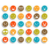 Set of color smiley icons Stock Photo