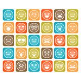 Set of color smiley icons isolated Stock Photography