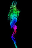 Color Smoke abstract photo, isolated on black background Royalty Free Stock Photos