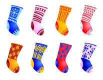 Set of color socks Royalty Free Stock Image