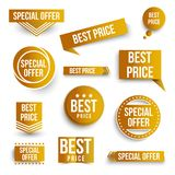 Set of color special offer and best price banners. royalty free illustration