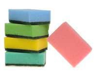 Set color sponge for washing Royalty Free Stock Photos