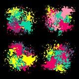 Set of color ink paint spots stock illustration