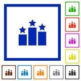 Ranking framed flat icons Royalty Free Stock Photo