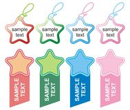 Set of Color star labels Stock Photos
