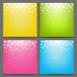 Set of color starry backgrounds Stock Photos
