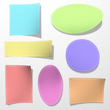 Set of color sticker Stock Images