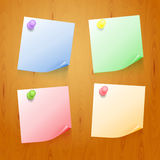 Set of color stickers Stock Image