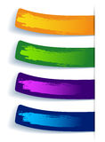 Set of color stickers with splash Royalty Free Stock Images