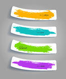 Set of color stickers with splash Stock Photos