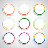 Set of color stickers Royalty Free Stock Photography