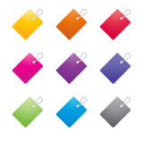 Set of color tags Royalty Free Stock Photo