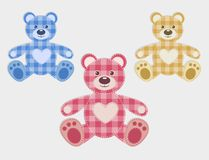 Set of color teddy bear Stock Photography