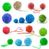 Set of color threads Stock Photo