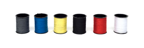 Set of color threads Stock Photography