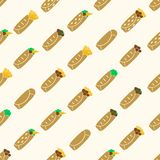 Set of color tortilla food seamless pattern Royalty Free Stock Photo