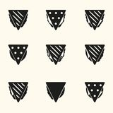 Set of black tortilla or sandwich tacos food icons eps10 Royalty Free Stock Photography