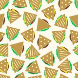Set of color tortilla or sandwich tacos seamless pattern eps10 Royalty Free Stock Photos