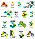 Set of color triangles geometric pattern elements Stock Photography