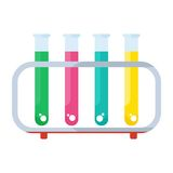 Set of color tube Stock Images