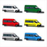 Set color van. Illustration isolated on white background Royalty Free Stock Image