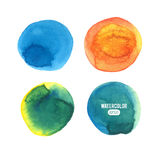Set of color vector watercolor stain Stock Photos