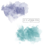 Set of color vector watercolor stains Royalty Free Stock Photography