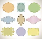 Set of color vintage frame. Royalty Free Stock Image