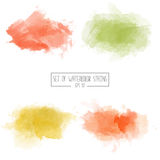 Set of color  watercolor stains Stock Photography