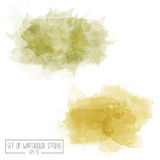 Set of color  watercolor stains Royalty Free Stock Images