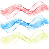 Set color wave design element abstract graphic dynamic Royalty Free Stock Photo